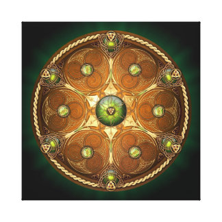 Emerald Celtic Chieftain s Shield Gallery Wrapped Canvas