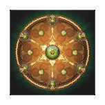 Emerald Celtic Chieftain's Shield Gallery Wrapped Canvas