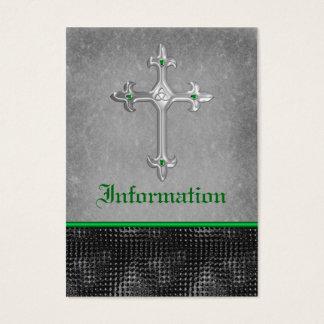 Emerald Celtic Cross Black, Gray Enclosure Card