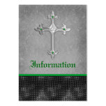 Emerald Celtic Cross Black, Gray Enclosure Card Business Card Templates