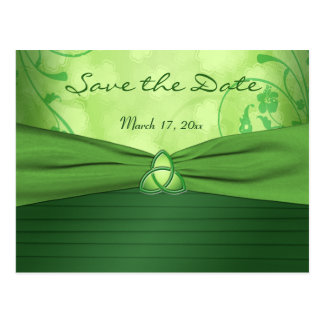 Emerald Celtic Love Knot Save the Date Postcard
