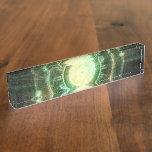 Emerald Chaos Clock, Steampunk Spellshaper Fractal Nameplate