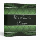 Emerald Circles Recipe Book Binders