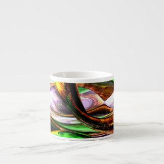 Emerald City Abstract Espresso Cup