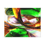 Emerald City Abstract Stretched Canvas Print