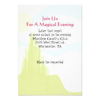EMERALD CITY Bat Mitzvah Wizard of Oz Party Card Invites