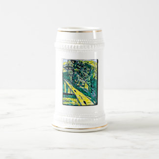 EMERALD CITY DRAWING BEER STEIN