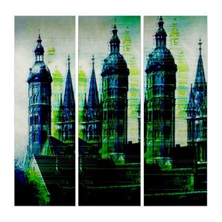 Emerald City Gothic Spires Glitch Art