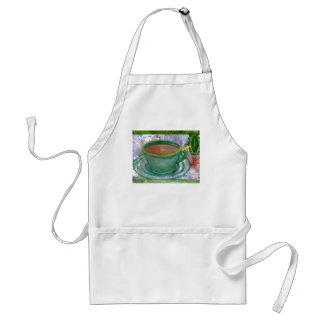 Emerald Coffee CricketDiane Coffee Art Adult Apron