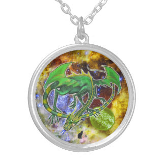 Emerald Cosmic Dragon Necklace