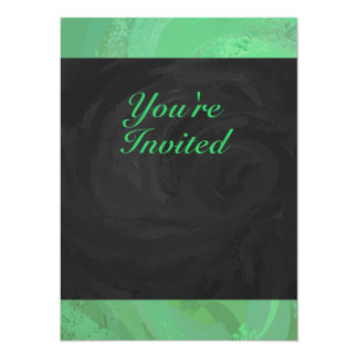 Emerald Cream and Black Party Card