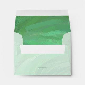 Emerald Cream Envelope