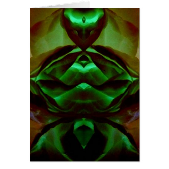 Emerald Creature Abstract Art Photo Blank Inside Card