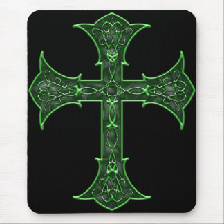 Emerald Cross Mouse Pad