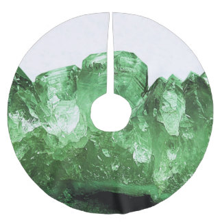 Emerald Crystal Brushed Polyester Tree Skirt