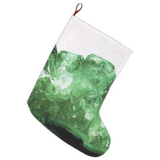 Emerald Crystal Large Christmas Stocking