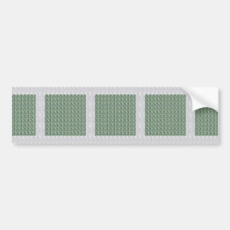 EMERALD crystal stone GRANDcard GROUPcard NVN494 Bumper Sticker