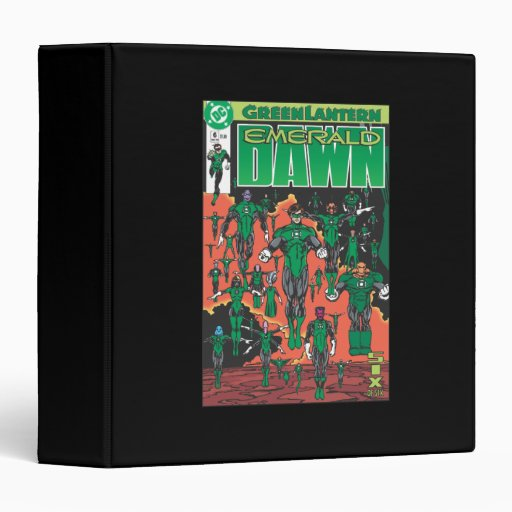 Emerald Dawn Cover 3 Ring Binder