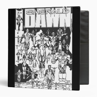 Emerald Dawn Cover, Black and White 3 Ring Binders