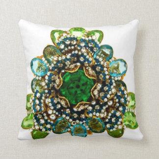 Emerald Diamonds Sofa Bling Jewelry Pillow