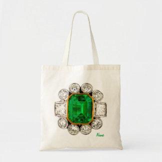 Emerald Diamonds Vintage Costume Jewelry Tote Bag