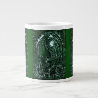 Emerald Dragon Giant Coffee Mug