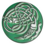 Emerald Dragon Knot Plate
