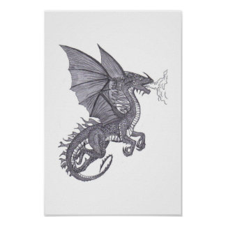emerald dragon poster