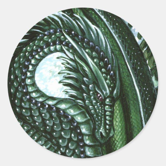 Emerald Dragon Sticker