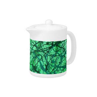 EMERALD DREAM (an abstract art design) ~ Teapot
