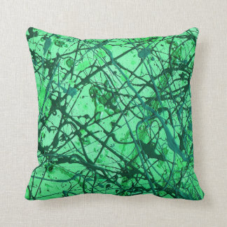EMERALD DREAMS ~ (abstract in green) ~ Throw Pillow