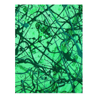 EMERALD DREAMS ~ (abstract in green) ~ Postcard