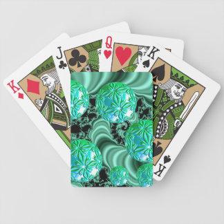 Emerald Dreams Abstract Irish Shamrock Fairies Playing Cards
