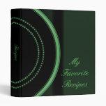 Emerald Emblem Recipe Book 3 Ring Binders