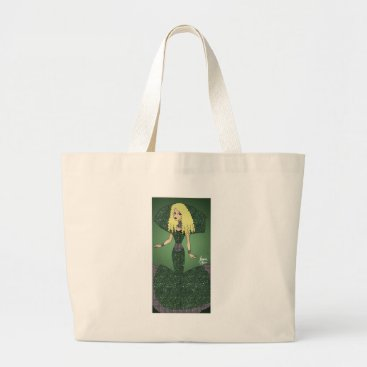 jasmineflynn Emerald Empress Large Tote Bag