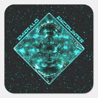 Emerald Encounter Square Sticker