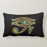 Emerald Eye of Ra in Gold Neck Pillow