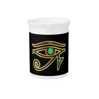 Emerald Eye of Ra in Gold Pitcher