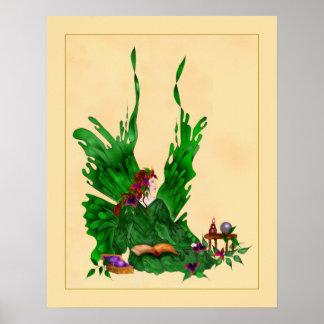 Emerald Faerie Poster
