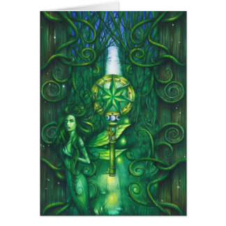 Emerald Fairy Forest Greeting Cards