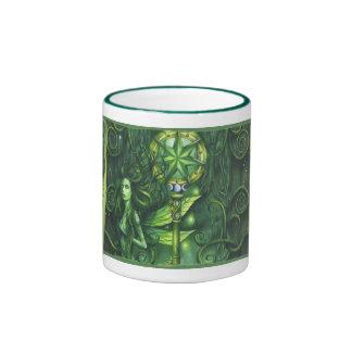 Emerald Fairy Forest Ringer Coffee Mug