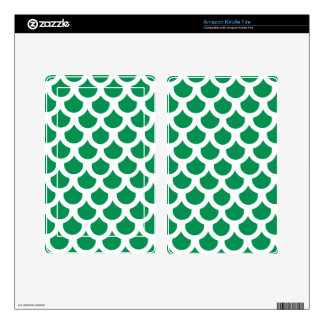 Emerald Fish Scale 2 Kindle Fire Decals