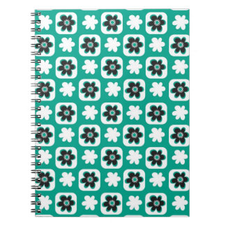 Emerald flower notebook