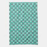 Emerald flower towel