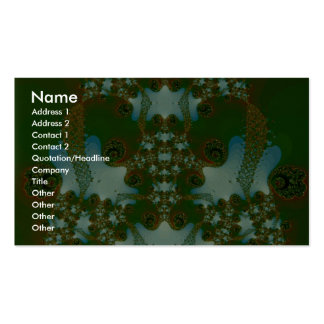 Emerald Fractal Double-Sided Standard Business Cards (Pack Of 100)