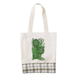 Emerald Gerbera Daisy Flower Bouquet Zazzle HEART Tote Bag