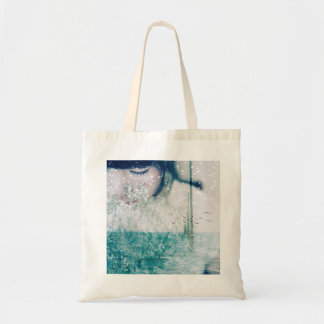 Emerald Girl Green White Shining Ocean Photo Tote Bag