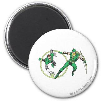Emerald Gladiator & Emerald Archer 2 Inch Round Magnet
