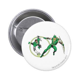 Emerald Gladiator & Emerald Archer Pinback Button