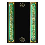 Emerald Gold Celtic Knotwork Black Letterhead